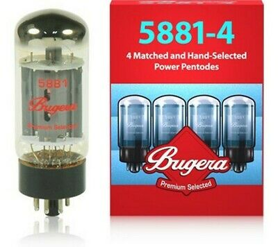 BUGERA 5881-4 Pack 4 Valves For Guitar • 98.79£