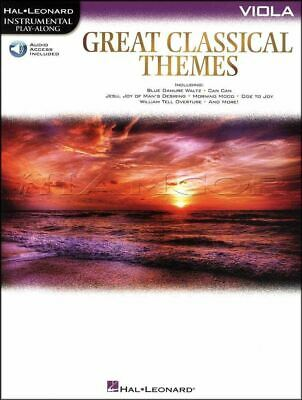 Great Classical Themes Viola Play-Along Sheet Music Book/Audio SAME DAY DISPATCH • 10.49£
