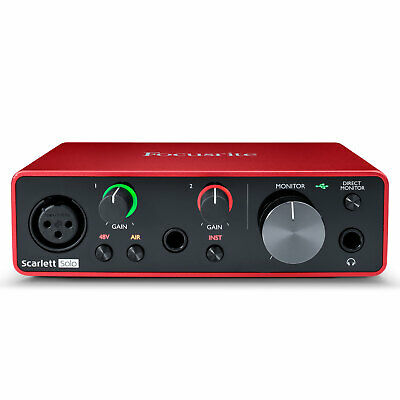 Focusrite Scarlett Solo USB Audio Interface - 3rd Gen • 85.43£
