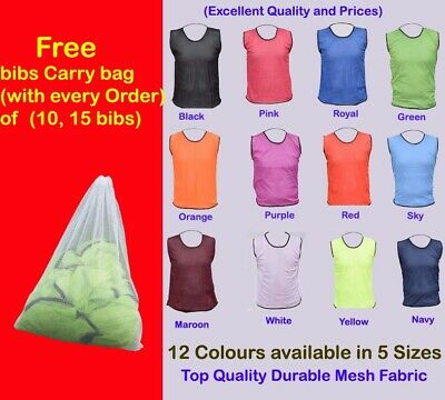 Football Bibs - THE ULTIMATE PRO TRAINING BIBS (All Sizes And Colours) • 19.99£