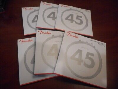 NEW 6 SETS! Fender 9050L Long Scale SS Flatwound Bass Strings, 073-9050-403 • 107.65£