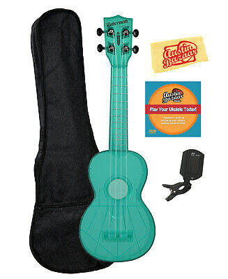 Kala KA-SWF-BL Waterman Soprano Ukulele - Fluorescent Blue Gloss W/ Gig Bag • 44.93£