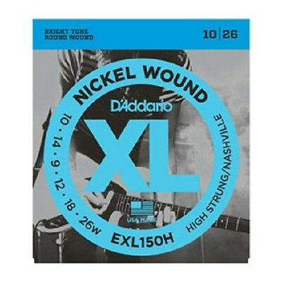 D'Addario XL Nickel Wound Electric Guitar Strings - High Strung/Nashville Tuning • 5.75£