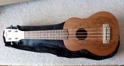 New Flight Soprano Ukelele NUS350DC Dream Catcher, Sapele Back/sdes, Carry Bag • 49.95£