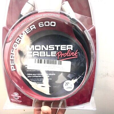 Monster Prolink Performer 600 Microphone Cable - 20' XLR-XLR • 26.94£