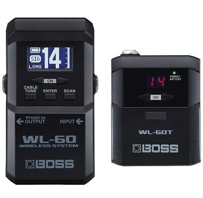 BOSS WL-60 Guitar Wireless System With WL-60T Transmitter Guitar Pedal Effects • 256.73£