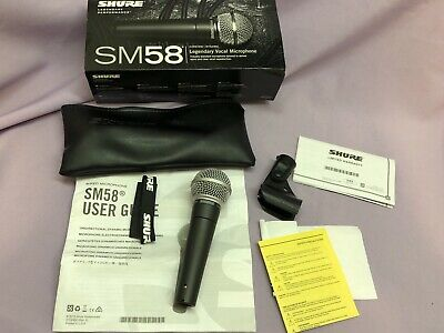 SHURE SM58 Dynamic Cardioid Microphone (Wired, Unidirectional) Excellent Cond! • 60.12£