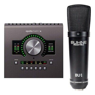 Universal Audio Apollo Twin X W/ DUO Processing Bundle With Buhne BU-1 Mic • 673.66£