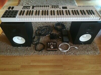 Yamaha HS8 Studio Monitors With Accessories Incl M-Audio Code 61, Tascam US-366 • 600£