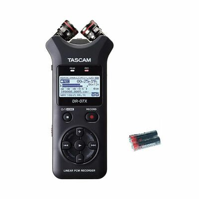 Tascam DR-07X Handheld Recorder W/2 Universal Electronics AA Batteries New • 108.35£