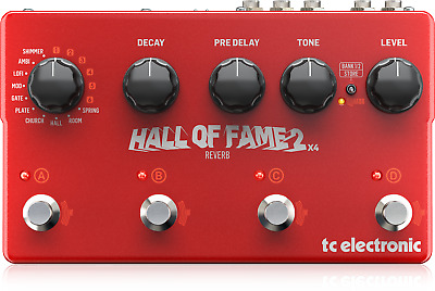 TC Electronic Hall Of Fame 2 X4 Reverb Effect Reverb IN Pedal • 230£
