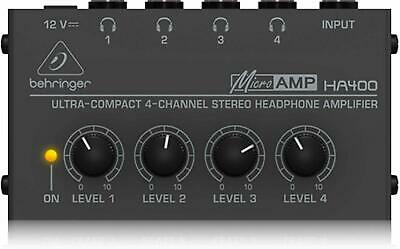 Microamp 4 Channel Stereo Headphone Amplifier High Power Stereo Amplifiers... • 20.08£