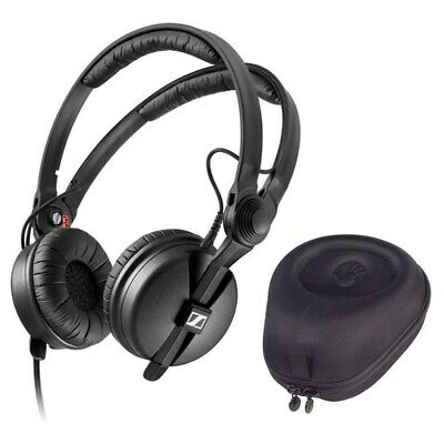 Sennheiser HD 25 PLUS Monitor Headphones + HardBody Pro Full-Sized Case Black • 143.46£