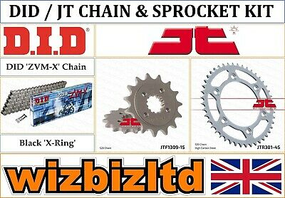 Honda XR650 L-P,A,B,C,D,E,F,G 1993-2016 [DID Black ZVM-X] [X-Ring Chain Kit] • 121.95£