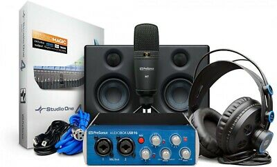 PreSonus AudioBox Studio Ultimate Bundle W/ Mic, Interface, Headphones, Speakers • 224.28£