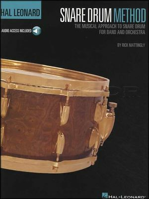 Hal Leonard Snare Drum Method Music Book with Audio Learn How To Play Method