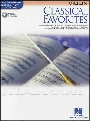 Classical Favorites Violin Instrumental Play-Along Sheet Music Book with Audio