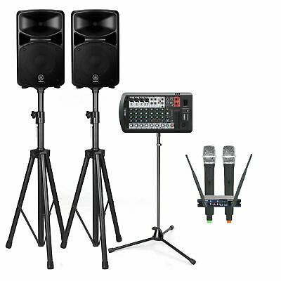 Yamaha STAGEPAS 600BT 680W Bluetooth PA System With Stands & Vocopro UHF-28 Dual • 1,038.37£