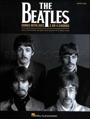 The Beatles Songs with Just 3 or 4 Chords Guitar Vocal Chord Song Book Let It Be
