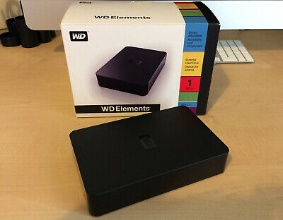 Western Digital Elements External Hard Drive - 1TB - Mac/PC. Complete With Box. • 44.99£
