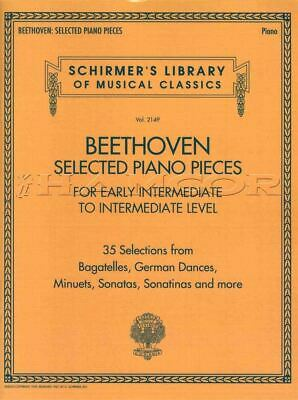 Beethoven Selected Piano Pieces Early Intermediate to Intermediate Music Book