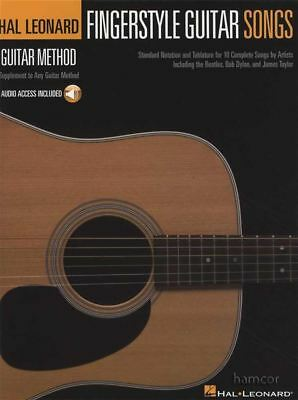 Fingerstyle Guitar Songs TAB Music Book/Audio Hal Leonard Guitar Method • 10.82£