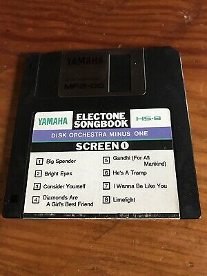 YAMAHA HS8 Electone Songbook SCREEN 1. DISK ORCHESTRA MINUS ONE 8 SCREEN HITS. • 2£