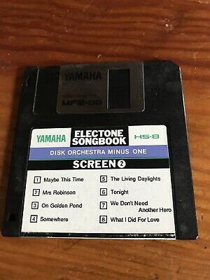 YAMAHA HS8 Electone Songbook SCREEN 2. DISK ORCHESTRA MINUS ONE 8 SCREEN HITS. • 2£