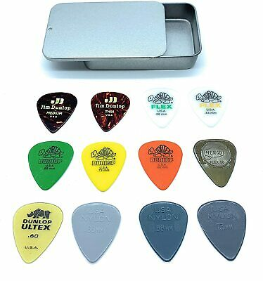 Dunlop PVP112 Acoustic Guitar Picks Variety Pack In A Handy Slide-Top Tin • 5.99£
