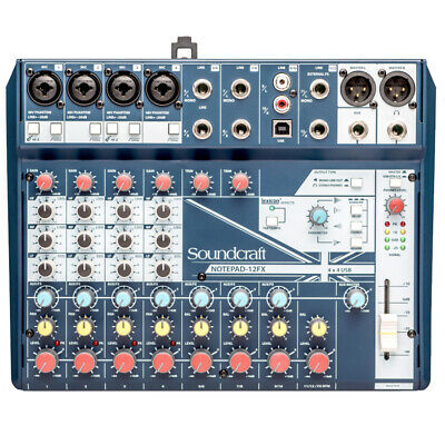 Soundcraft Notepad-12FX Small-format Analog Mixing Console With USB I/O, New! • 137.12£