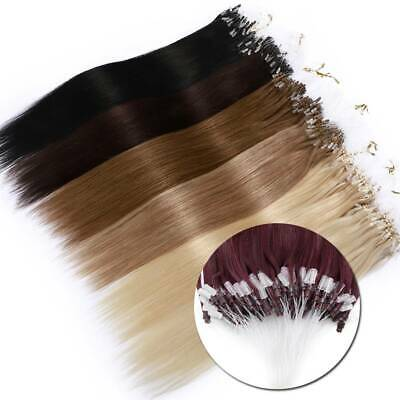 Clearance Micro Loop Ring THICK 100% Remy Human Hair Extensions Nano Beads UK • 72.67£