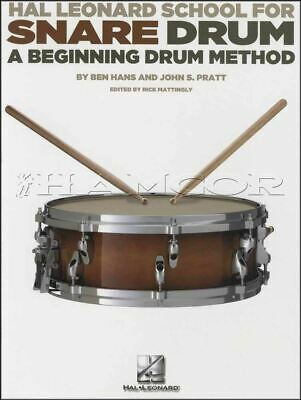 Hal Leonard School for Snare Drum A Beginning Method Music Book Learn to Play