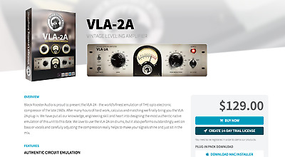 Black Rooster Audio VLA-2A • 68.99£
