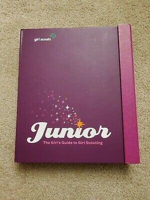 JUNIOR Girl Scout GUIDE BOOK! The Girl's Guide To Girl Scouting Handbook Purple1 • 9.94£