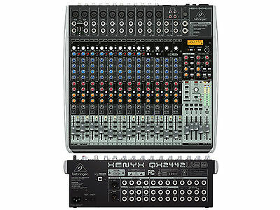 Behringer QX2442USB Mixer 24 Way With USB - Effects For Voice And Wireless • 319.99£