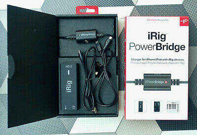 Ik Multimedia IRig HD 2 Plus PowerBridge For IPad Or IPhone With All Cables • 99£