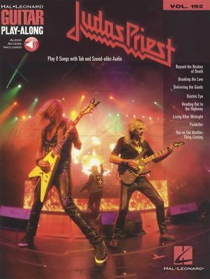 Judas Priest Guitar Play-Along TAB Music Book/Audio Breaking The Law Painkiller • 13.52£