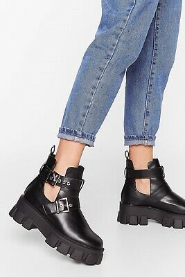 Ladies Womens Ankle Lace Up Platform Chunky Goth Punk Zip Icon Retro Shoes Boots • 15£