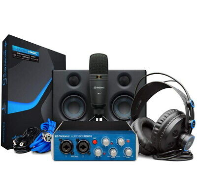 Presonus AudioBox 96 Studio Ultimate Bundle Hardware/Software Recording, New! • 224.28£
