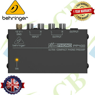 Behringer PP400 Microphono Ultra-Compact Phono Preamp Amplifier • 43.99£