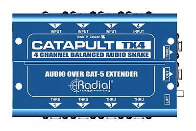 Radial Engineering Catapult TX4 | 4-Channel Cat 5 Snake For Audio/AES Routing • 101.30£
