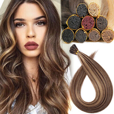 Pre Bonded Remy 100% Human Hair Extensions I Tip Stick Micro Ring Brown Blonde • 95.12£