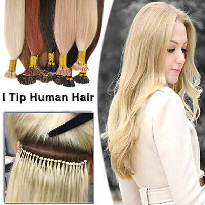 Micro Ring Pre Bonded 100% Remy Real Human Hair Extensions NANO I Tip Stick 1g/s • 83.57£