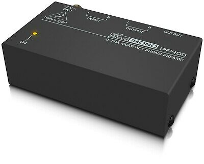 Behringer PP400 12V Ultra Compact Microphono Phono Preamp Amplifier  • 29.99£