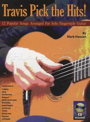 Travis Pick The Hits TAB Music Book with CD Popular Songs for Fingerstyle Guitar