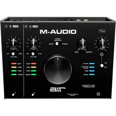 Maudio AIR192X8 M-audio 8-in 4-out Usb Audio / Midi Inte • 170.97£