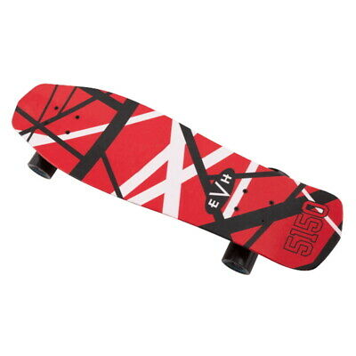 EVH Red White And Black Stripes Skateboard  5150 Skateboard , New! • 107.33£