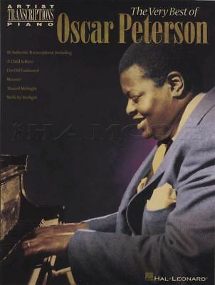 The Very Best of Oscar Peterson Piano Sheet Music Book Artist Transcriptions