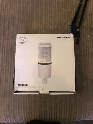 Audio Technica AT2020 XLR White With Boom Arm • 70£