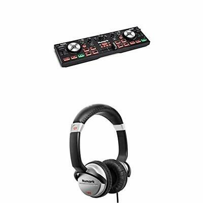 Numark DJ2GO2 Touch & HF125 Bundle - Compact 2 Deck USB DJ Controller With A • 93.99£